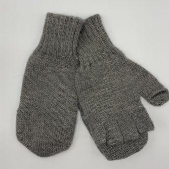 Children's Grey Alpaca Glittens