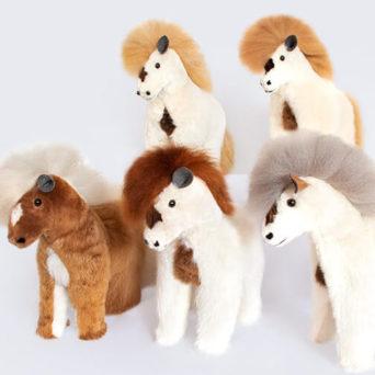 Stuffed Horse Made from Baby Alpaca Fur