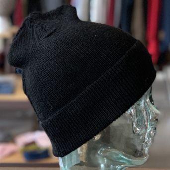 Black Alpaca Hat Liner