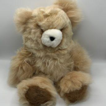 """18"""" Teddy Bear Made from Light Fawn Baby Alpaca"""