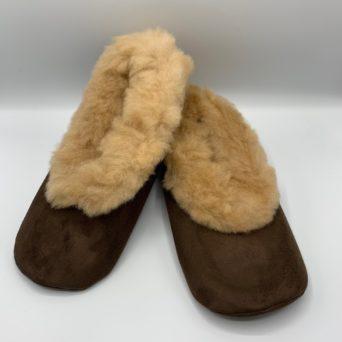Unisex Alpaca Fur Slippers in Large