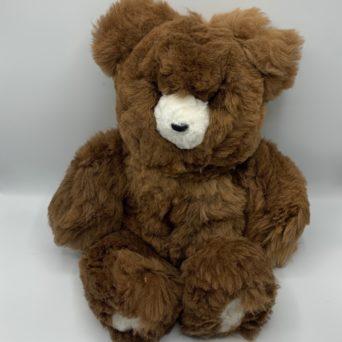 "18"" Teddy Bear Made from Dark Fawn Baby Alpaca"