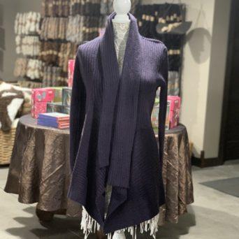 Long Alpaca Sweater in Purple