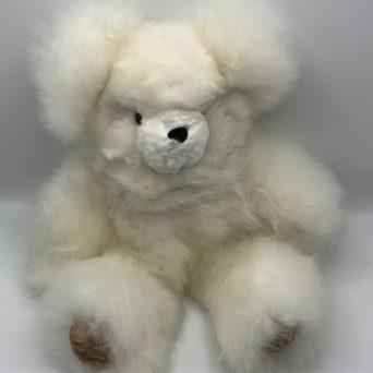 "18"" Teddy Bear Made from White Baby Alpaca"