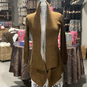 Long Alpaca Sweater in Fawn Melange