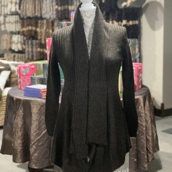 Long Alpaca Sweater in Brown Melange