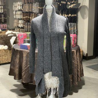 Long Alpaca Sweater in Grey Melange