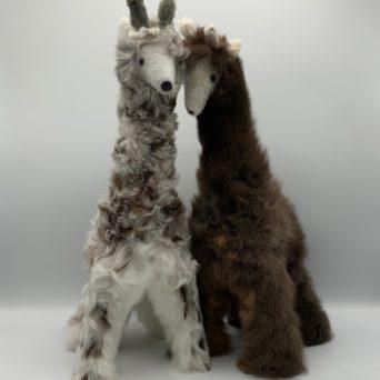"15"" Stuffed Giraffe in Baby Alpaca"