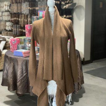 Long Alpaca Sweater in Dark Fawn