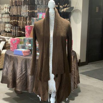 Long Alpaca Sweater in Medium Brown