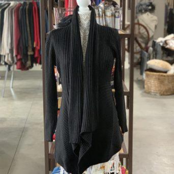 Long Alpaca Sweater in Black