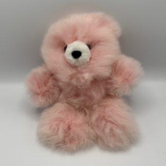 "10"" Light Pink Teddy Bear Made From Baby Alpaca"