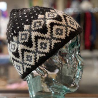 Black and White Alpaca Blend Hat