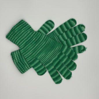 Candy Stripe Gloves in Green