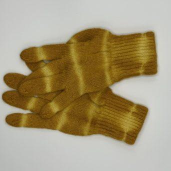 Tie-Dyed Alpaca Gloves in Orange