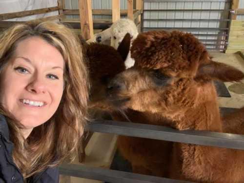 Alpaca Selfie with Kalista